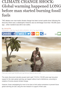 Paper: 'CLIMATE CHANGE SHOCK': 'Global warming happened LONG before man started burning fossil fuels'
