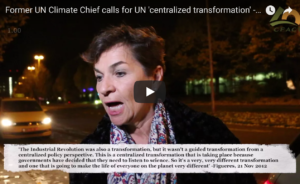 Exclusive Video: Fmr. UN Climate Chief tries to laugh off her call for UN 'centralized transformation'