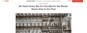 Time Magazine: How to fix the 'air conditioning problem' – 'Terrible for Planet' – Promotes 'public cooling centers' – 'Re-orient ourselves to meaning of air-conditioning'