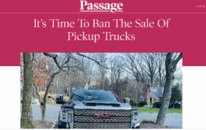 Climate lockdown: 'It's Time To Ban The Sale Of Pickup Trucks' – 'Shift away from relying on private vehicles entirely'